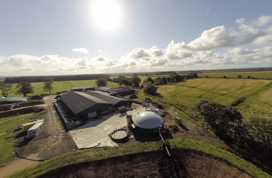 Біогазовий завод і молочна ферма